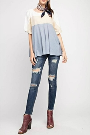 easel Color-Block Flowy Tee - Product Mini Image