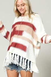 KyeMi Color-Block Fringe Sweater - Product Mini Image
