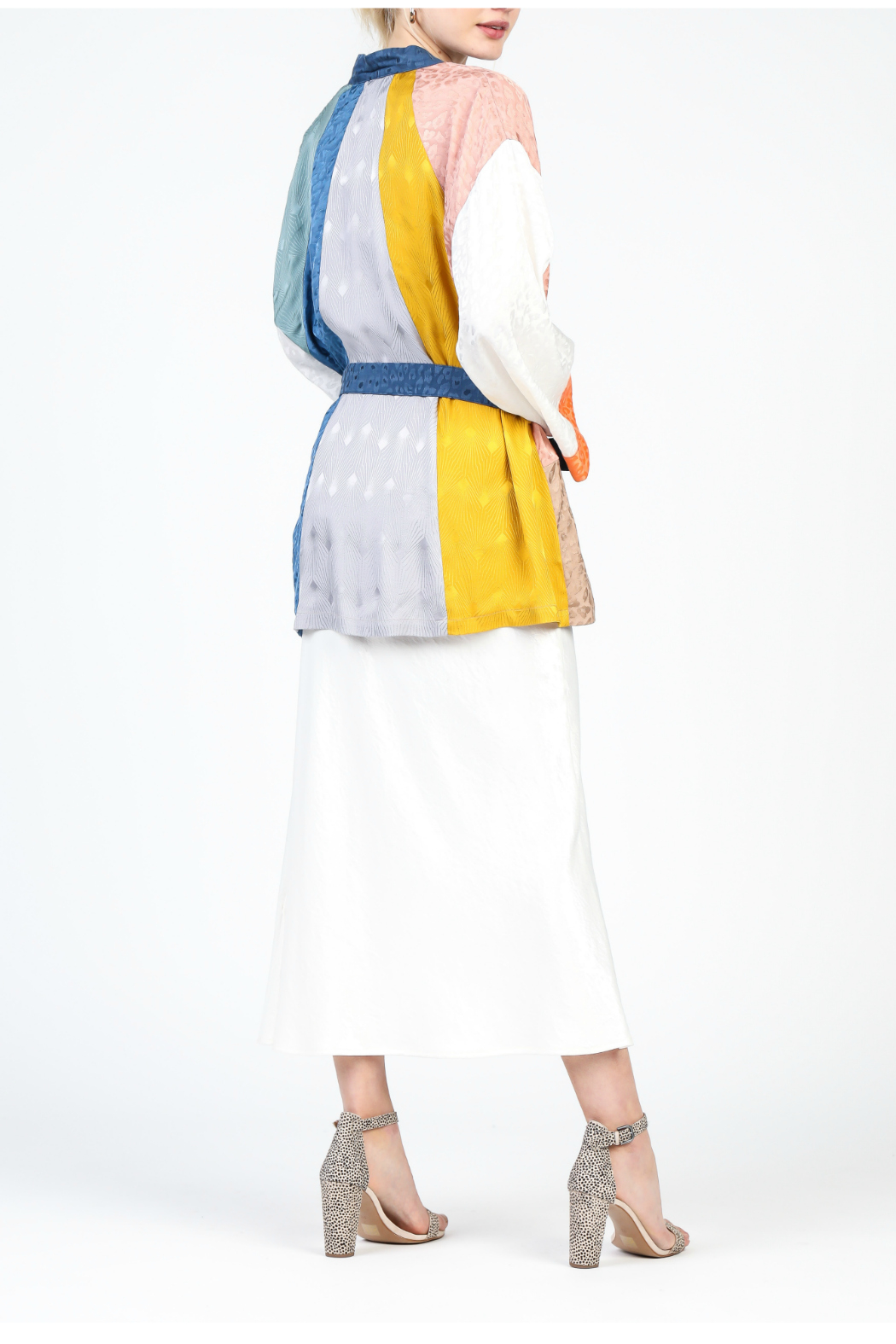 Current Air Color Block Kimono - Front Full Image
