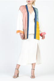 Current Air Color Block Kimono - Front cropped