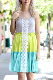 Lyn-Maree's  Color Block Lace Dress - Product Mini Image