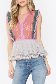 Sugarlips Color-Block Lace Top - Product Mini Image
