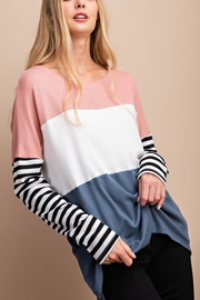 Lyn -Maree's Color Block Long Sleeve - Front cropped