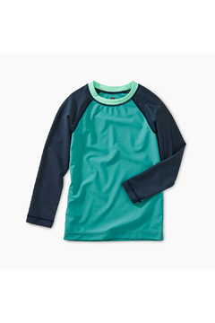 Shoptiques Product: Color Block Long Sleeve Rash Guard