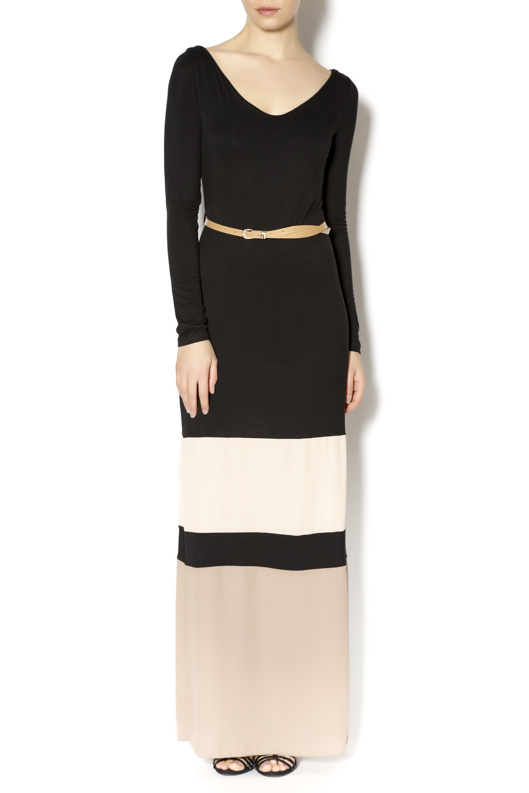 Double Zero Color Block Maxi - Front Cropped Image