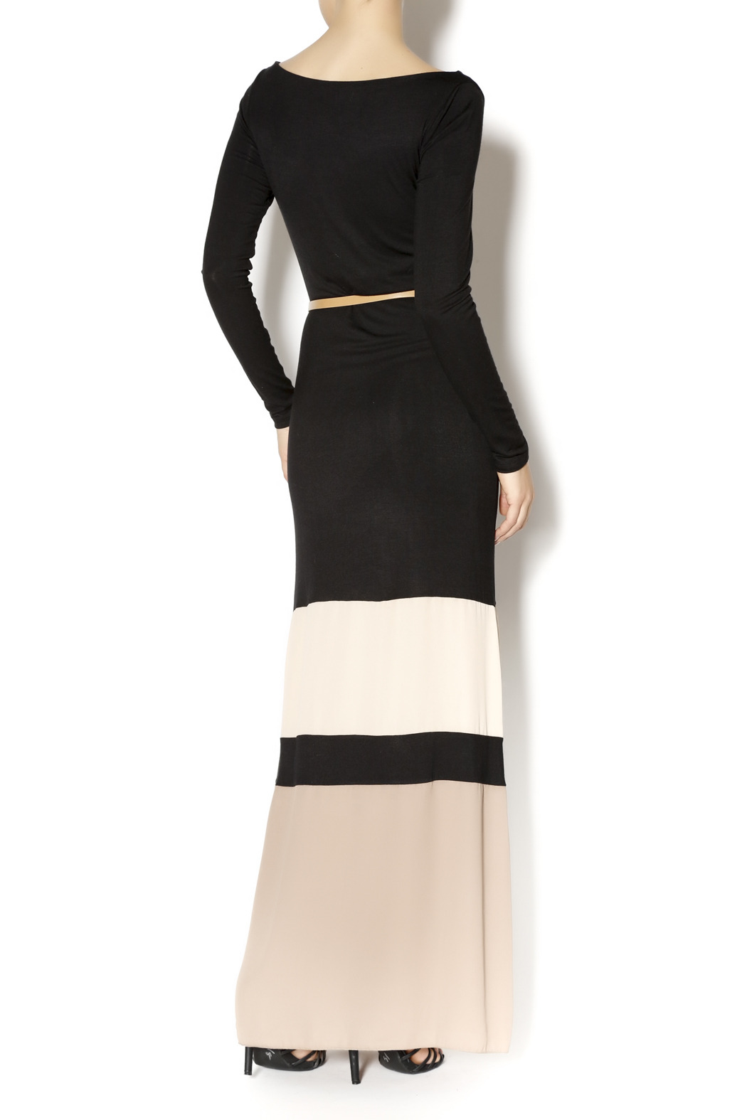 Double Zero Color Block Maxi - Back Cropped Image