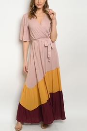 Lyn -Maree's Color Block Maxi - Front cropped
