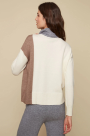 Charlie B.  Color Block Mock Sweater - Front full body