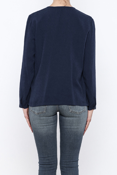 Shoptiques Product: Navy Detailed Top