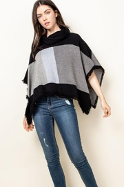 THML Clothing Color Block Poncho - Product Mini Image