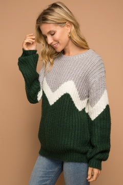 Hem and Thread Color block pullover - Product List Image