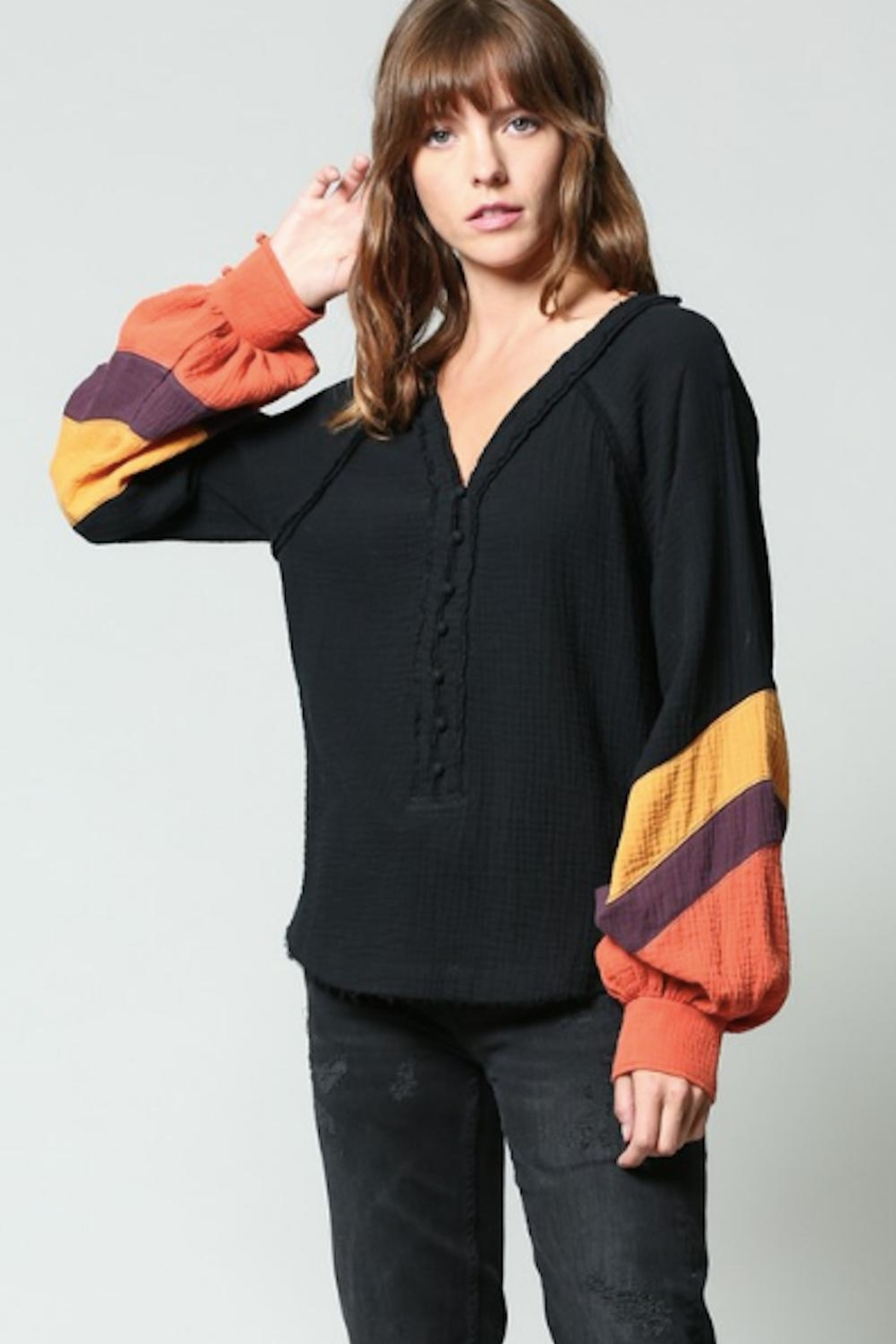 FATE by LFD Color Block Shirt - Front Full Image