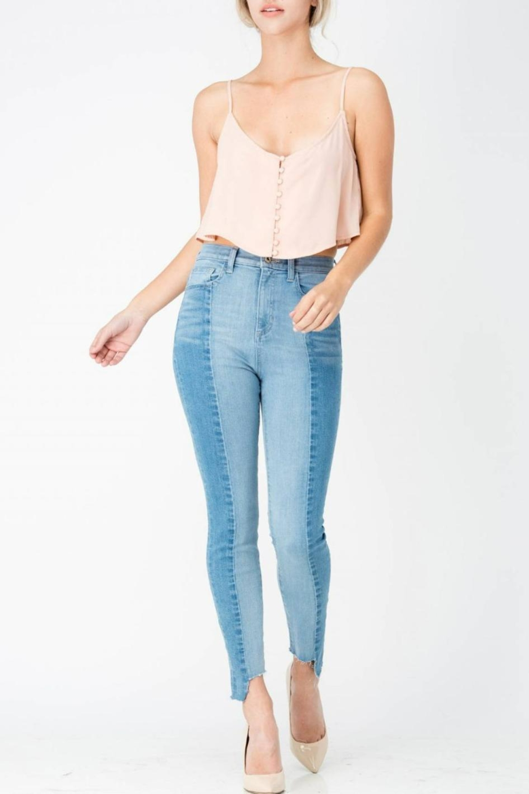Sneak Peek Color-Block Skinny Denim - Main Image