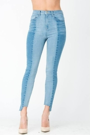 Sneak Peek Color-Block Skinny Denim - Side cropped