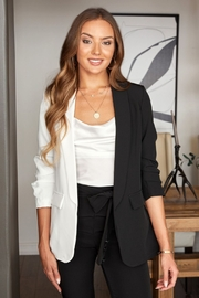Venti 6 Color Block Sleeve Blazer - Front cropped