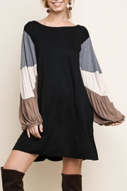 Umgee USA Color-Block Sleeved Dress - Product Mini Image