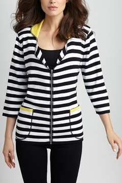 Angel Apparel Color Block Striped Zip Cardigan - Product List Image