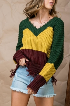 Main Strip Color Block Sweater - Product List Image