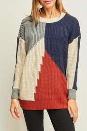 Entro Color Block Sweater - Product Mini Image
