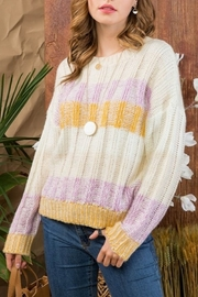 Main Strip Color Block Sweater - Front cropped