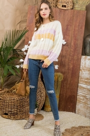 Main Strip Color Block Sweater - Side cropped