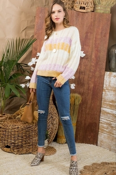 Main Strip Color Block Sweater - Alternate List Image