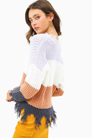 MONTREZ Color block sweater - Side cropped