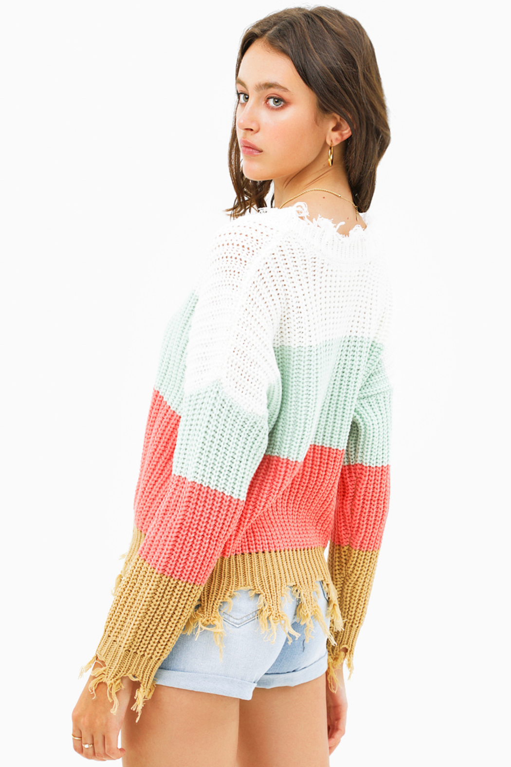 MONTREZ Color block sweater - Side Cropped Image