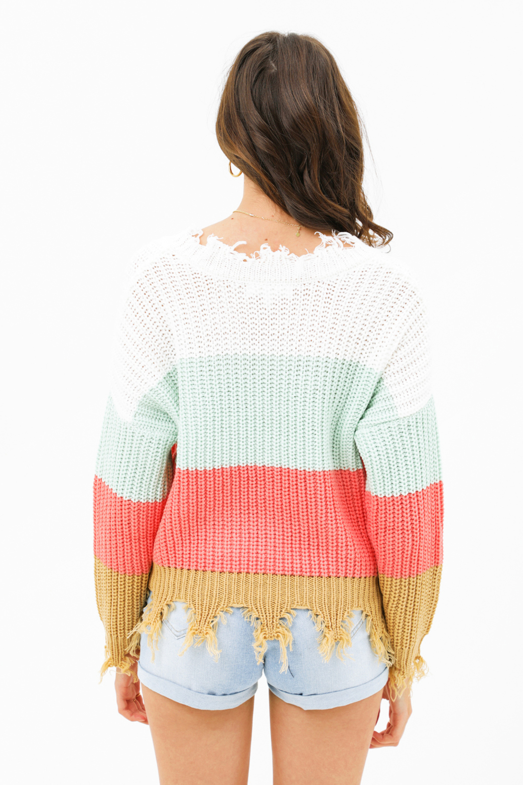 MONTREZ Color block sweater - Back Cropped Image