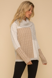 Hem & Thread Color Block Sweater - Front full body