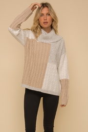 Hem & Thread Color Block Sweater - Side cropped
