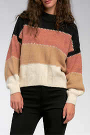 Elan Color block Sweater - Front full body