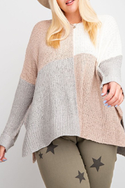easel  Color Block Sweater - Product Mini Image