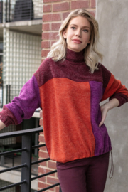 Tru Luxe Color-Block Sweater - Product Mini Image
