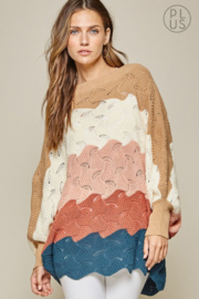 Andree by Unit Color Block Sweater - Front cropped