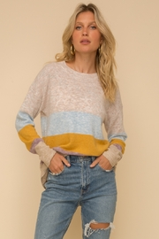 Hem and Thread Color Block Sweater - Product Mini Image