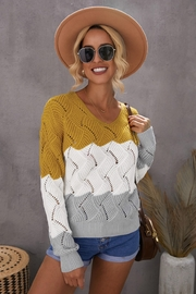 Lyn -Maree's Color Block Sweater - Product Mini Image