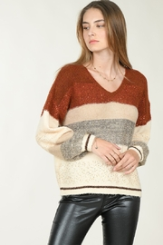 Molly Bracken Color Block Sweater W/Sparkles - Product Mini Image