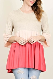 Spin USA Color Block Top - Front cropped
