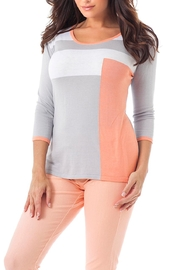 Angel Apparel Color Block Top - Product Mini Image