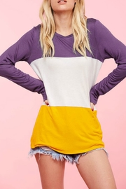 Fantastic Fawn Color Block Top - Product Mini Image