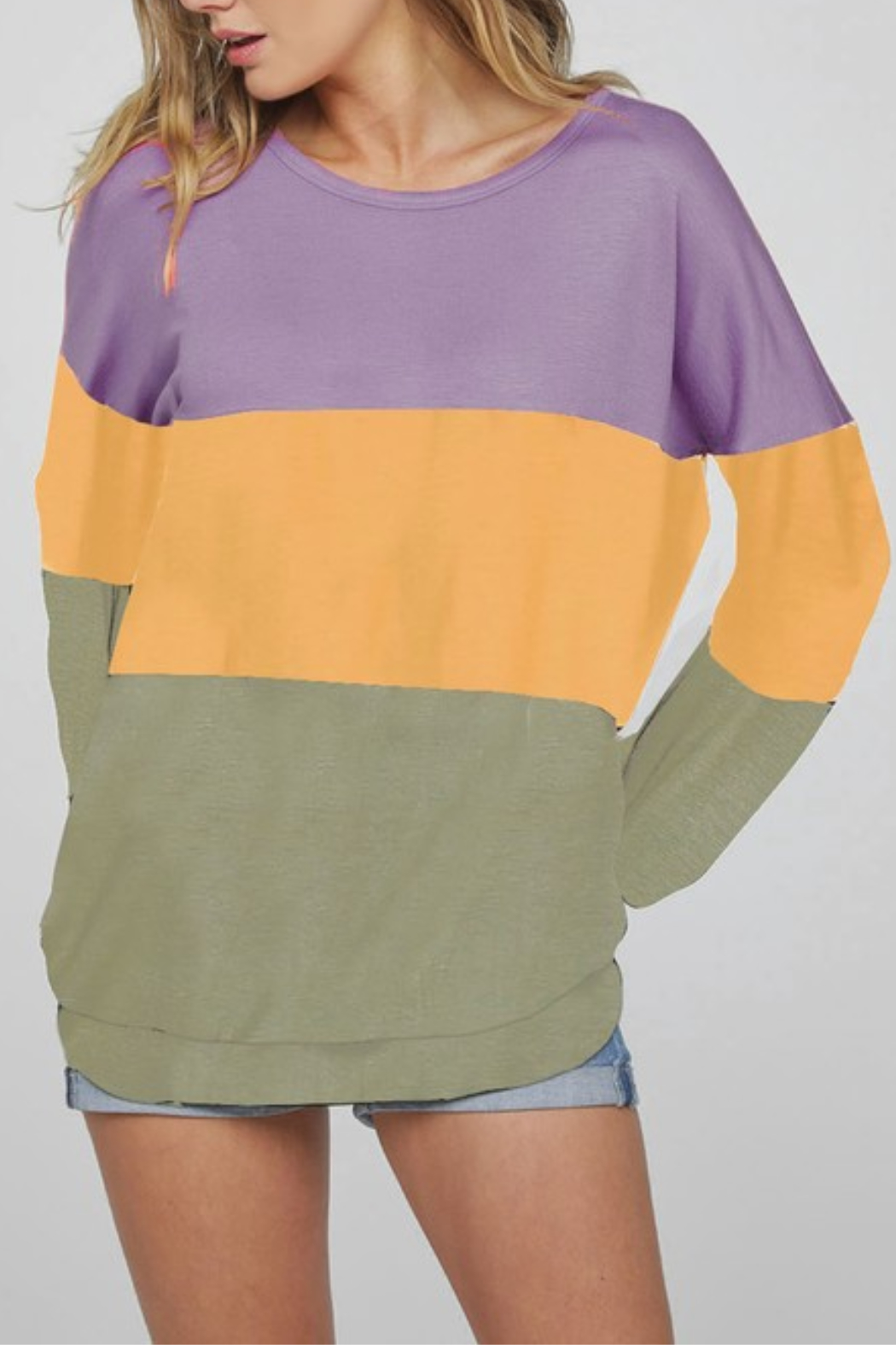 Bibi Color Block Top - Front Cropped Image