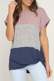 She + Sky Color Block Top - Product Mini Image