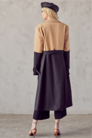 R+D Color Block Trench Coat - Side cropped