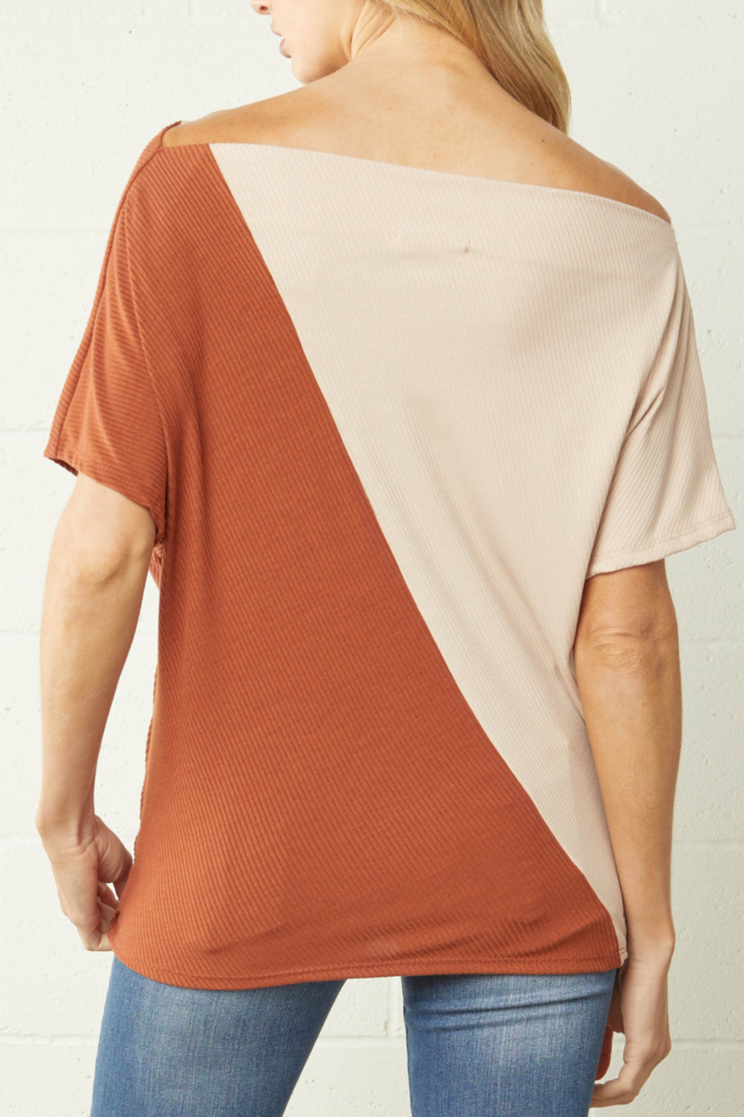 entro  Color Block Trend top - Front Full Image