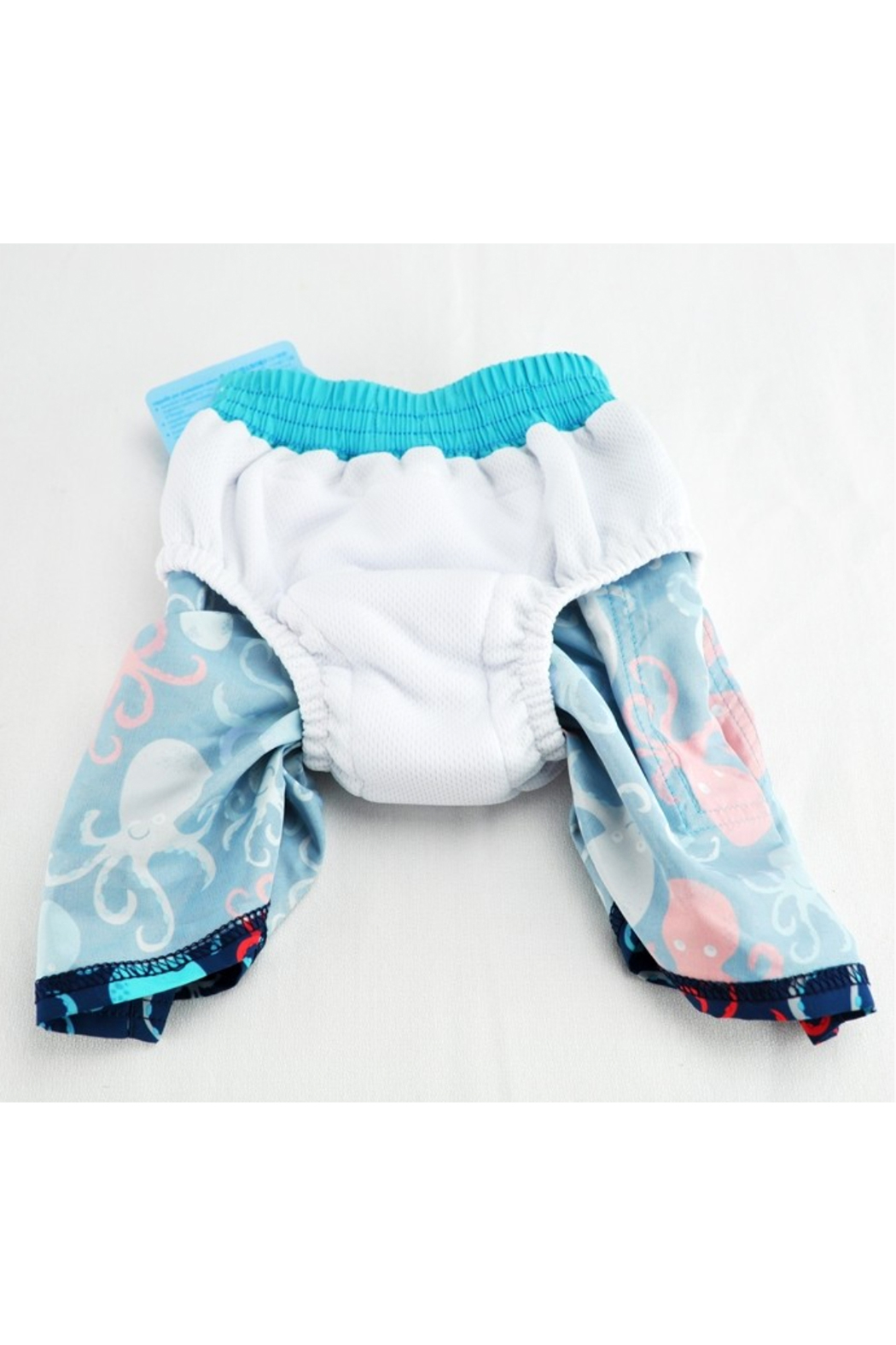 Iplay Color Block Trunks With Built-In Reusable Absorbent Swim Diaper - Side Cropped Image