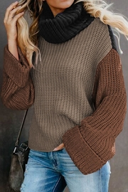 Love Valentine Boutique Color Block Turtleneck Knit Sweater - Product Mini Image