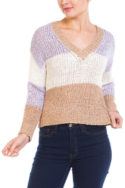 Wild Honey Color-Block v-Neck Sweater - Product Mini Image