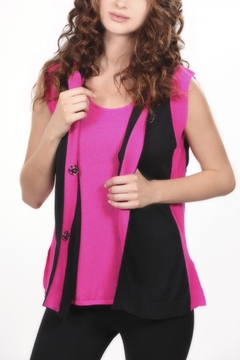 Angel Apparel Color-Blocked Hooded Vest - Product List Image