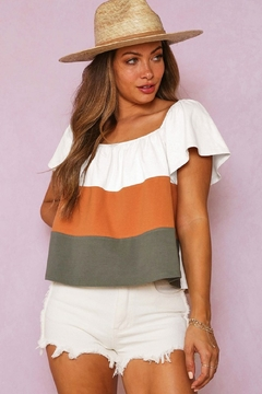 Fantastic Fawn Color Blocked Knit Top - Product List Image